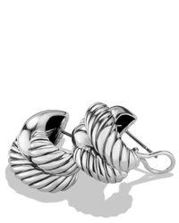 David Yurman - Metallic Woven Cable Earrings - Lyst