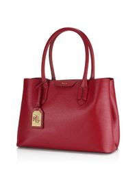 Ralph Lauren | Red Lauren Tate City Tote | Lyst