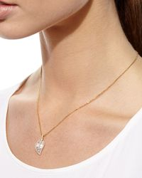 Anita Ko - Metallic 18k Gold Diamond Leaf Pendant Necklace - Lyst