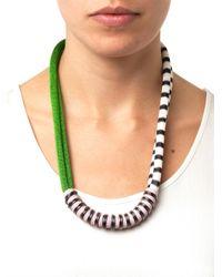 Missoni - Green Chevron Necklace - Lyst