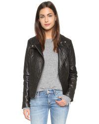 Mackage | Black Lisa Leather Jacket | Lyst
