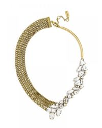 BaubleBar | Metallic Crystal Triangulum Collar | Lyst