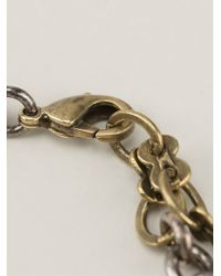 Lanvin - Metallic Love Necklace - Lyst