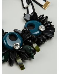 Marni - Blue Chunky Beaded Necklace - Lyst