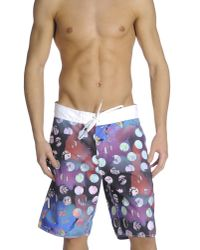 RVCA | Purple Beach Trousers for Men | Lyst