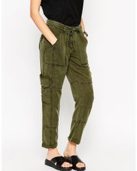 ASOS - Green Ultimate Utility Trouser With Roll Hem - Lyst