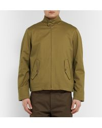 Private White V.c. | Green Cotton-Twill Bomber Jacket for Men | Lyst