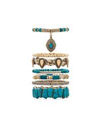 Samantha Wills | Green Southern Sun Bracelet Set - Turquoise | Lyst
