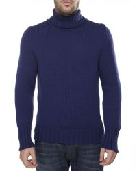 Jules B - Blue Merino Wool Roll Neck Jumper for Men - Lyst