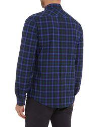 Ben Sherman | Blue Pop Tartan Check Long Sleeve Shirt for Men | Lyst