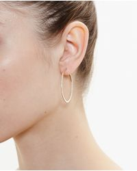 Rosa De La Cruz | Metallic Small 18k Rose Gold Hoop Earrings | Lyst