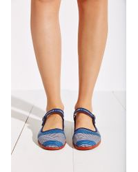 Urban Outfitters | Blue Printed Mary Jane | Lyst