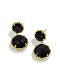 David Yurman | Chatelaine Mini Double-drop Earrings With Black Onyx In Gold | Lyst