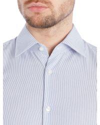 HUGO - Blue Slim Fit Business Stripe Shirt for Men - Lyst