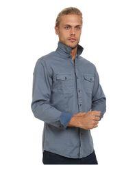 Mavi Jeans   Blue Folded Sleeve Shirt for Men   Lyst
