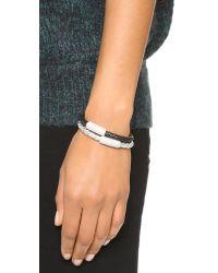 Liza Schwartz | The Glam Bar Bracelet - Metallic Silver | Lyst