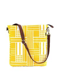 Maika - Yellow Maze Print Sling Crossbody - Lyst