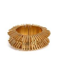 Eddie Borgo - Metallic Textured Bracelet - Lyst
