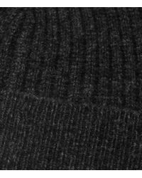 Reiss - Gray Noah Ribbed Beanie Hat for Men - Lyst
