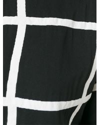 Valentine Gauthier - Black Checked Blouse - Lyst