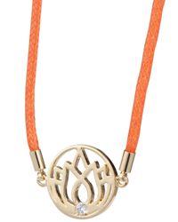 Melissa Odabash - Orange Lotus Friendship Bracelet - Lyst