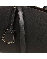 Fendi | Black Handbag 2 Jours Medium Leather | Lyst