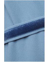 BOSS Orange Blue Dress With Round Neckline: 'aglenni'