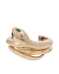 Roberto Cavalli - Metallic Set Of 2 Snake Bracelets - Lyst