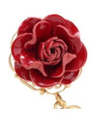 Dolce & Gabbana - Red Embellished Clip-On Earrings - Lyst