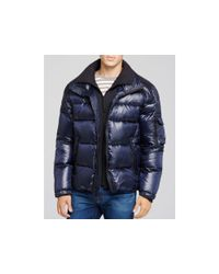 Sam. - Blue Shiny Racer Quilted Down Jacket - Lyst