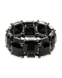Lauren by Ralph Lauren | Black Stone Stretch Bracelet | Lyst