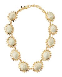 Lele Sadoughi | Metallic Howlite Sunshine Necklace | Lyst