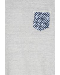 120% Lino - Gray Print Pocket T-shirt for Men - Lyst