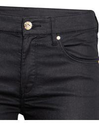 H&M - Black Skinny Regular Jeans - Lyst