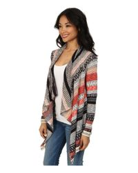NIC+ZOE - Multicolor Swing Stripe Cardy - Lyst