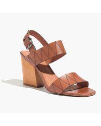 Madewell | Brown The Karina Slingback Sandal | Lyst
