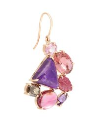 Sharon Khazzam | Purple Women's Multi Gemstone Norma Earring | Lyst