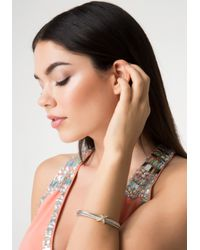 Bebe | Metallic X Twisted Metal Bracelet | Lyst