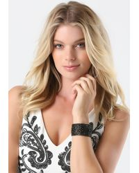Bebe | Black Crystal Bracelet | Lyst