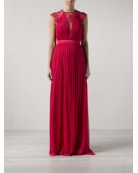 Catherine Deane - Red Sheer Lace Panel Dress - Lyst