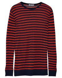 T By Alexander Wang | Orange Striped Jersey Top | Lyst
