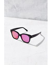lyst kyme terry square sunglasses in black  women s black terry square sunglasses