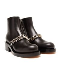 Givenchy - Brown Laura Chain Biker Boots - Lyst