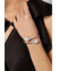 Balenciaga - Metallic Holiday Collection Eugenia Silver-tone - Lyst