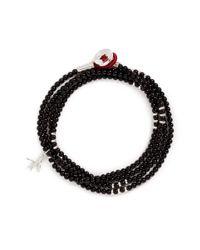 Isaia | Black 'saracino' Bead Wrap Bracelet | Lyst