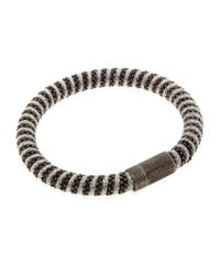 Carolina Bucci | Gray Metallic Twister Bracelet Black Rhodium | Lyst
