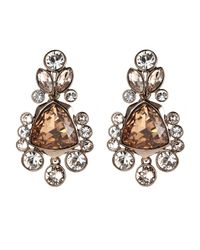 Givenchy | Metallic Rose Gold-Tone & Champagne Earrings | Lyst
