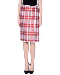 Céline - Red 3/4 Length Skirt - Lyst