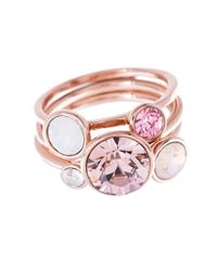 Ted Baker | Pink 'jackie' Jewel Stack Ring | Lyst