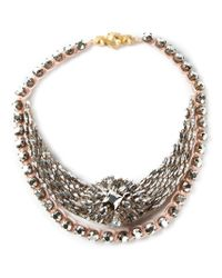 Shourouk - Pink Mini 'river Comet' Necklace - Lyst